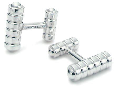 Запонки Tiffany X005, срібло