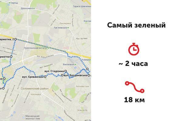 Веломаршруты Киева, Маршрут № 1. Отрадный парк
