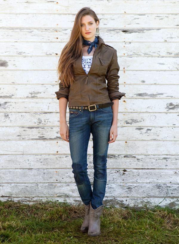 Женская кожаная куртка Wrangler