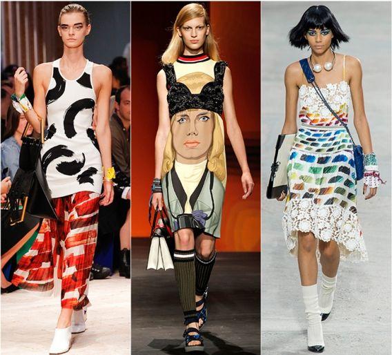 Графика и картины: Céline, Prada, Chanel