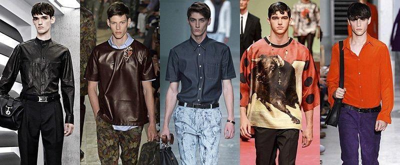 Модные мужские рубашки и футболки сезона Весна-Лето 2015