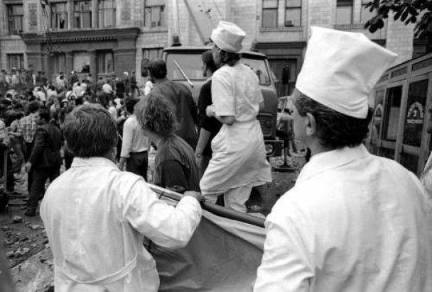 Обвал главпочтамта. Киев-1989г.