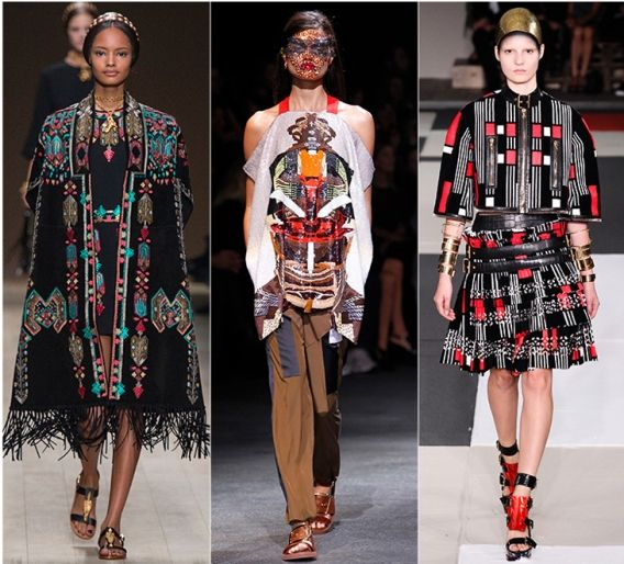 Африканские мотивы: Valentino, Givenchy, Alexander McQueen