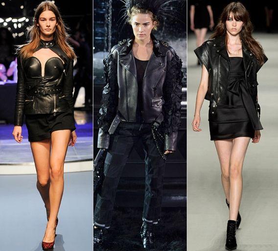 Байкерский стиль: Jean-Paul Gaultier, Louis Vuitton, Saint Laurent