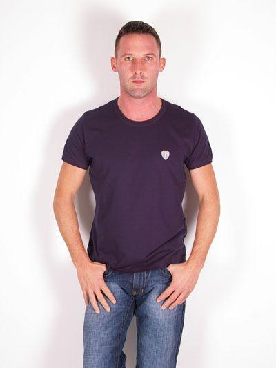 D&G GYM Dolce & Gabbana Mens Sport Emblem T-Shirt Navy Blue