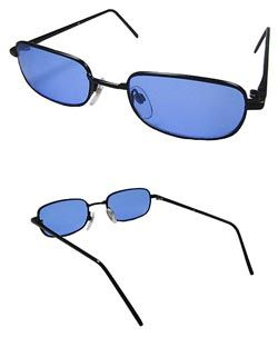 Blue Tinted Black Framed Sunglasses