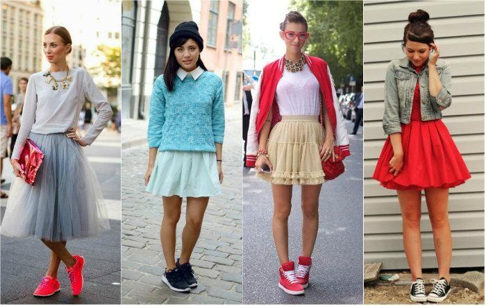 Спортивная обувь - кокетливый стиль, модно и удобно