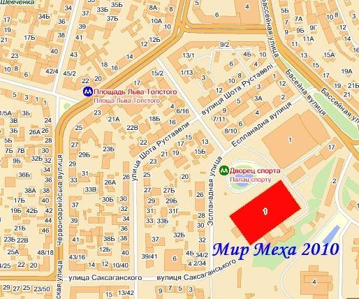 Мир меха 2010, карта проезда