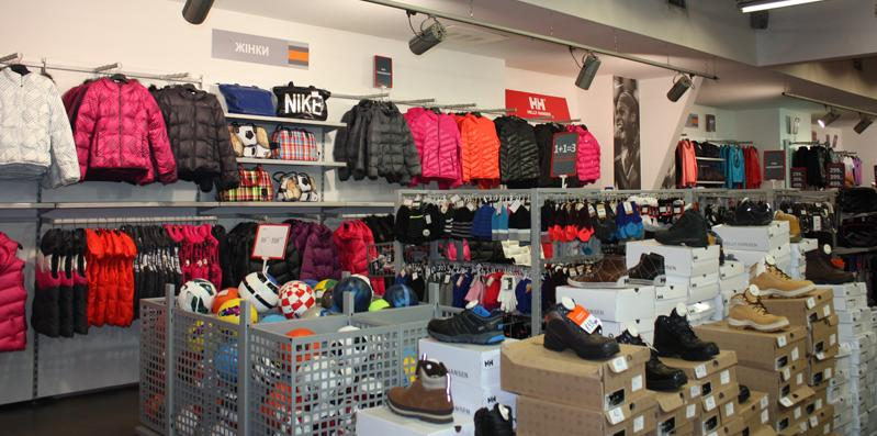 Міжсезонний розпродаж в магазині спортивного одягу Reebok, Рібок. Грудень 2014