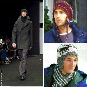 Модные мужские вязаные шапки ушанка и балаклава