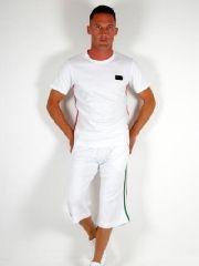 GYM Dolce & Gabbana Stripe Short Set for Men White
