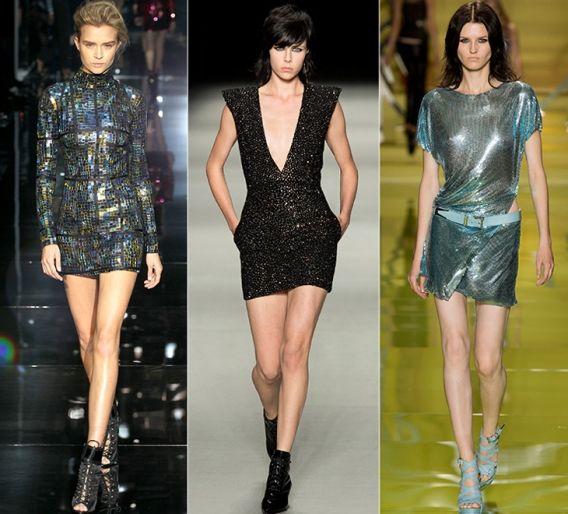 Пайетки: Tom Ford, Saint Laurent, Versace