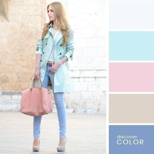 В новом сезоне необязательно пастельные тона разбавлять яркими цветами. Быть загадочной нынче в моде.