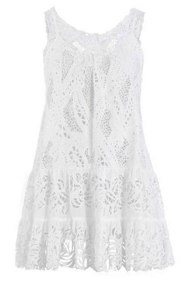 Белое кружевное платье Catherine Malandrino, 1 900 грн